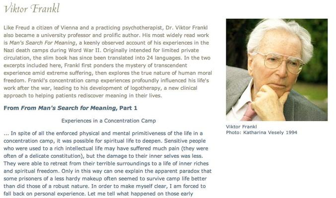 Other Voices: Viktor Frankl