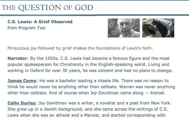 "Lewis - ""A Grief Observed"" Transcript"