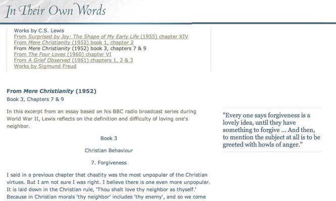 From Mere Christianity, Book III, Chapter IIV & IX