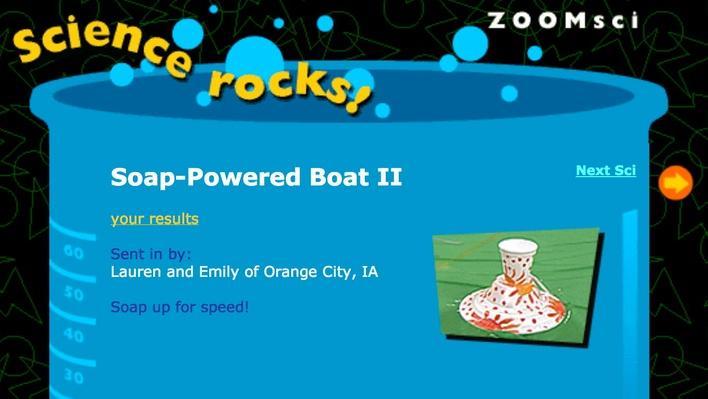 Soap-Powered Boat II