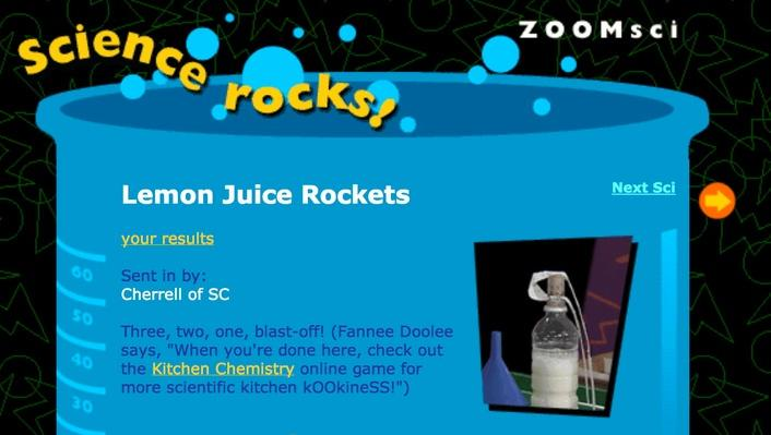 Lemon Juice Rockets