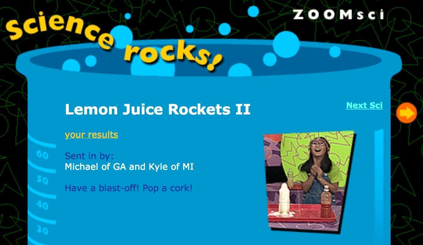 Lemon Juice Rockets II| Zoom!