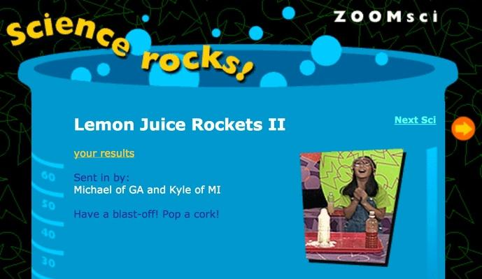 Lemon Juice Rockets II