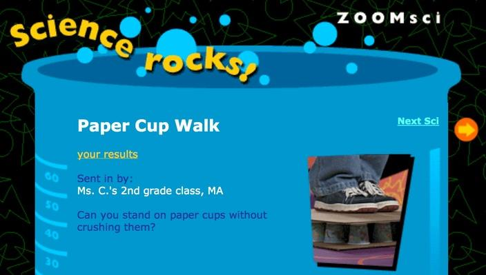 Paper Cup Walk