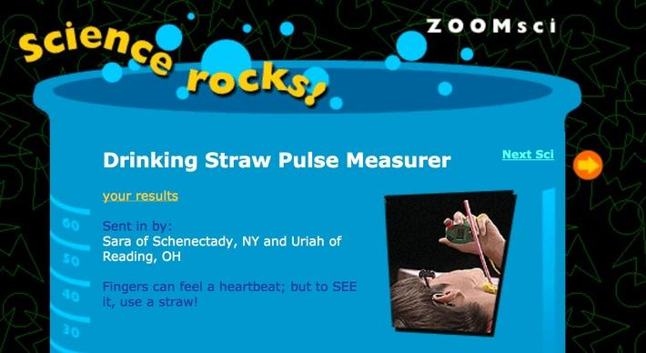Drinking Straw Pulse Measurer