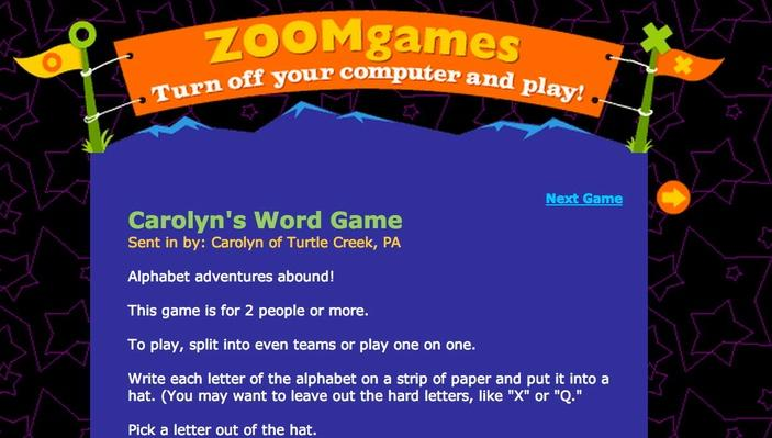 Carolyn's Word Game