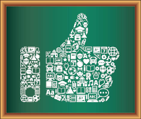 Education & Back to School Blackboard Collection: Thumbs Up | Clipart