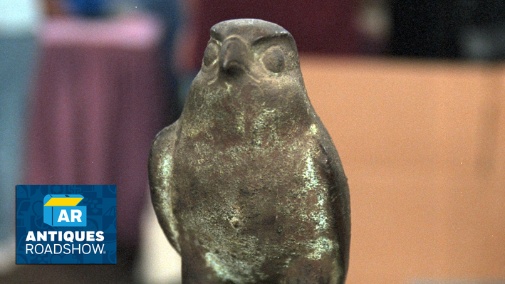 Late-Period Egyptian Bronze Falcon | ANTIQUES ROADSHOW