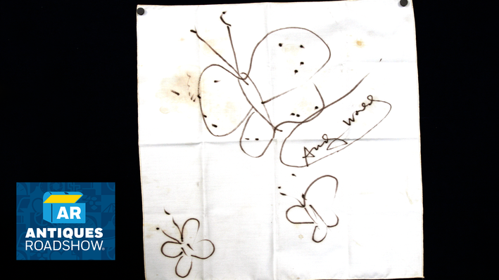 Andy Warhol Napkin Drawing, ca. 1983 | ANTIQUES ROADSHOW