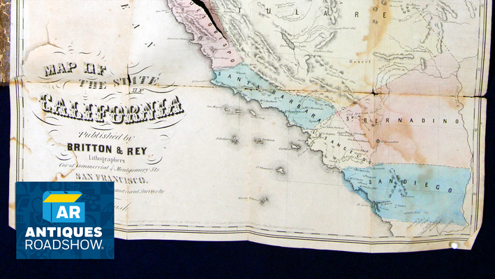 Pocket Map of California, ca. 1853 | ANTIQUES ROADSHOW