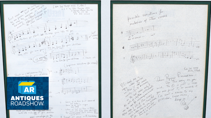 Pete Seeger Song Manuscript | ANTIQUES ROADSHOW