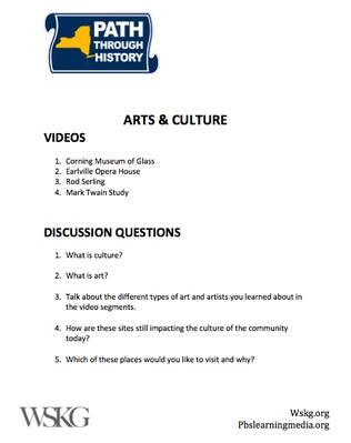 Arts & Culture Discussion Questions