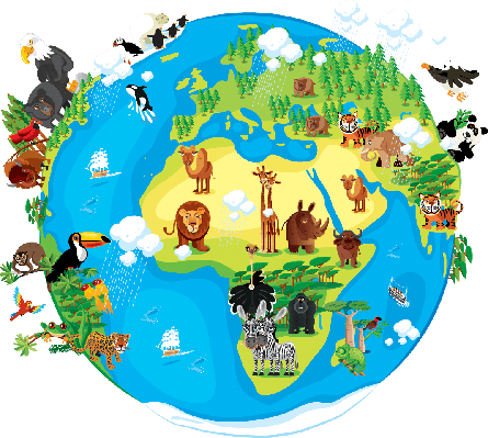 Animals Cartoon of World | Clipart