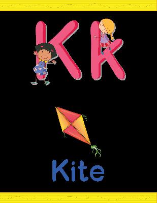 Alphabet Worksheets - K for Kite | Clipart