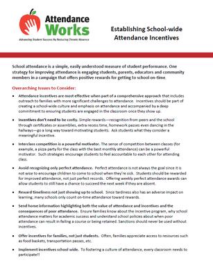 Establishing School-wide Attendance Incentives