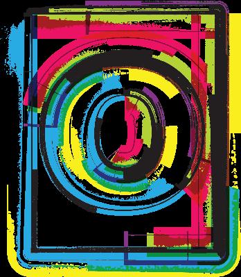 Colorful Grunge Font Letter O | Clipart