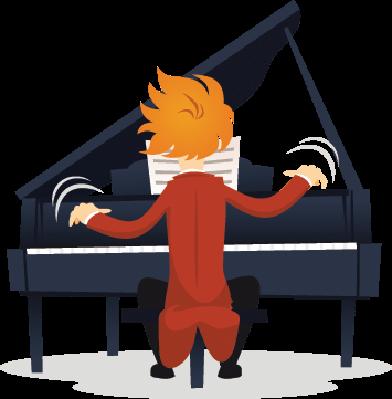Pianist Virtuoso | Clipart