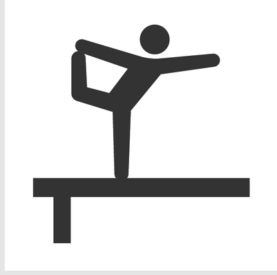 Athletics and Gymnastics Icon Set - Balance Beam | Clipart