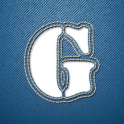 Denim Jeans: Letter G | Clipart