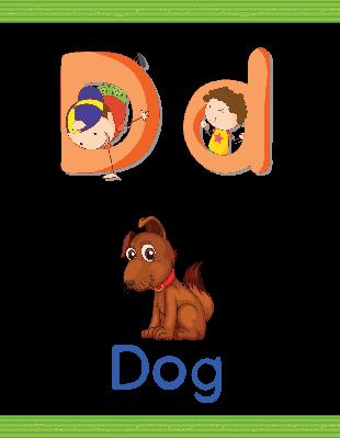 Alphabet Worksheets - D for Dog | Clipart