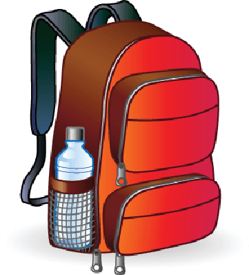 Red Backpack | Clipart