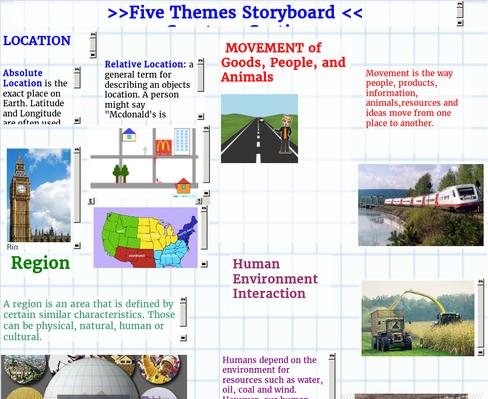 5 Themes Storyboard