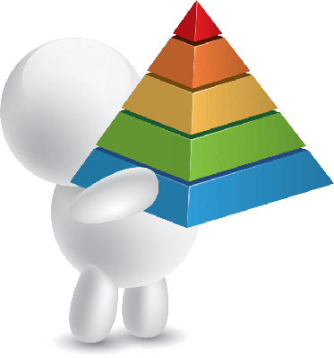 Man Holding Pyramid Chart | Clipart