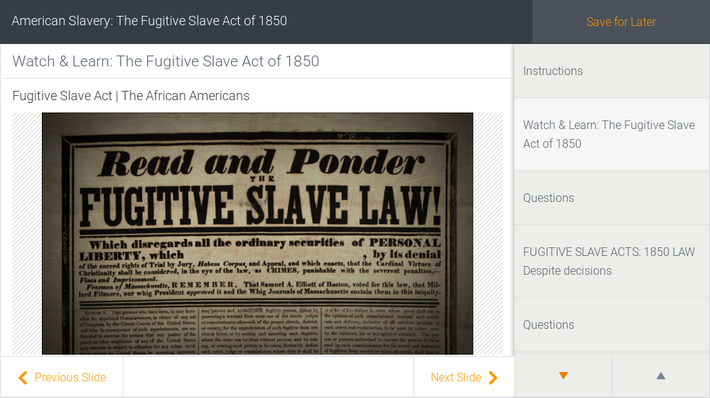 American Slavery: The Fugitive Slave Act of 1850