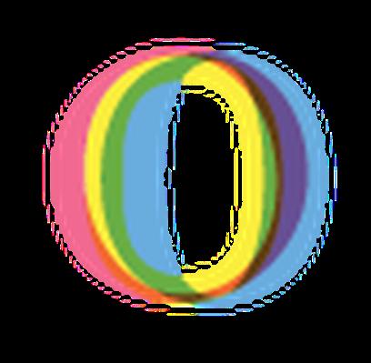 Four-Color Alphabet Letters - O | Clipart