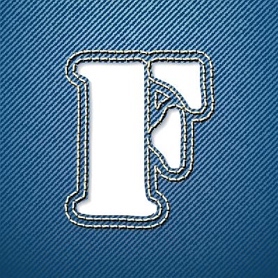 Denim Jeans: Letter F | Clipart