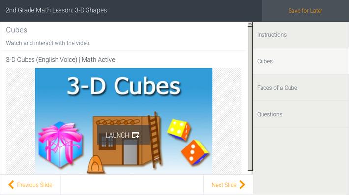 2nd Grade Math Lesson: 3-D Shapes