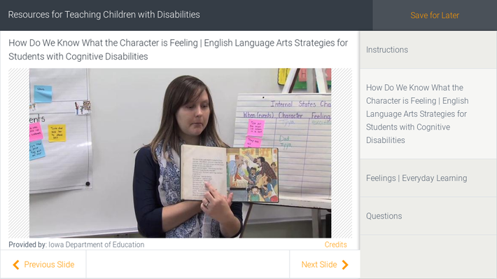 Resources for Teaching Children with Disabilities