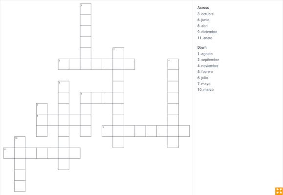 El calendario - answers in English