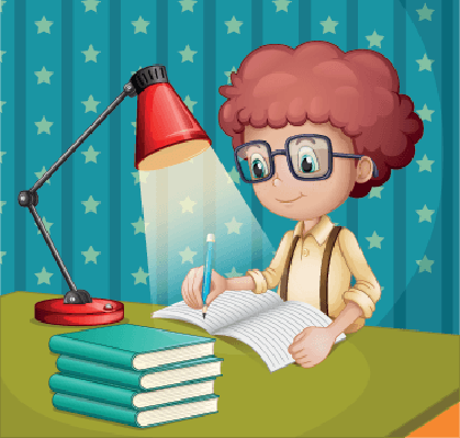 Boy Studying | Clipart
