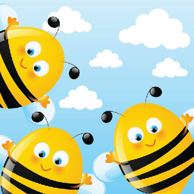 Funny Bees | Clipart