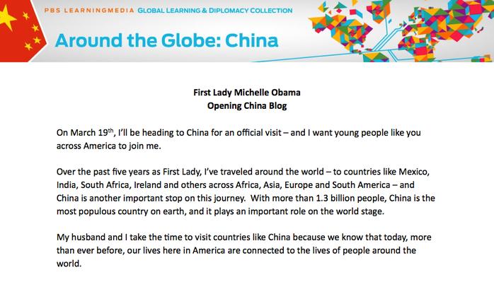 Michelle Obama's China Blog - Post 1