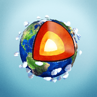 Illustration of Earth's Internal Structure | Clipart
