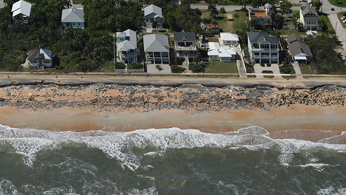 Hurricane Matthew Destruction in Flagler Beach