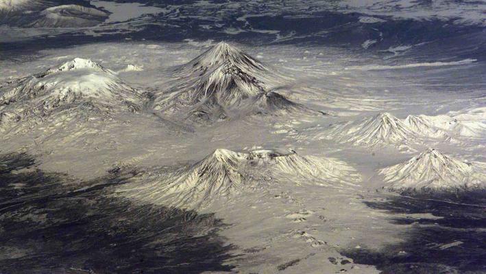 Volcanoes on Kamchatka Peninsula