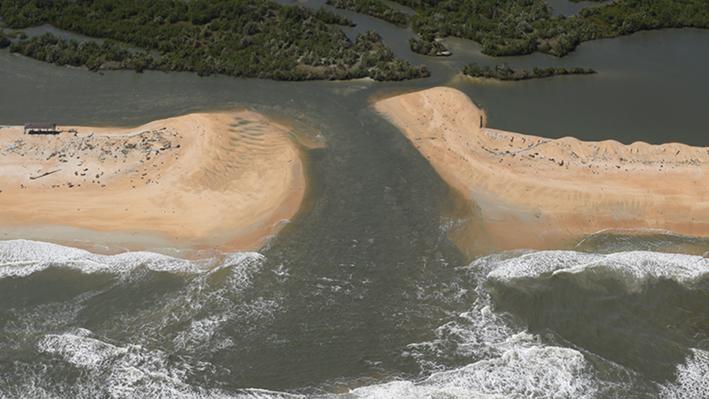 Hurricane Matthew Creates New Inlet near St. Augustine
