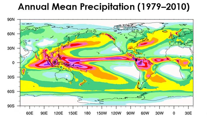 Global Annual Mean Precipitation