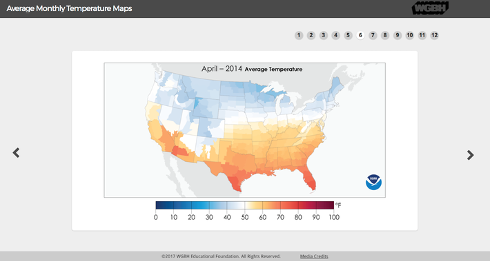 Average Monthly Temperature Maps
