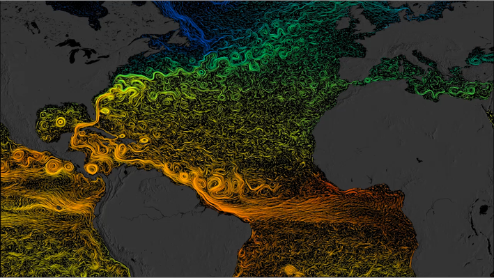 North Atlantic Sea Surface Currents