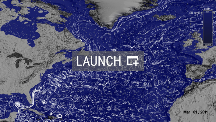 North Atlantic Surface and Deep Currents | High Resolution