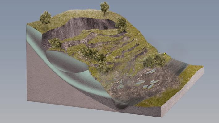 Landslide Animation
