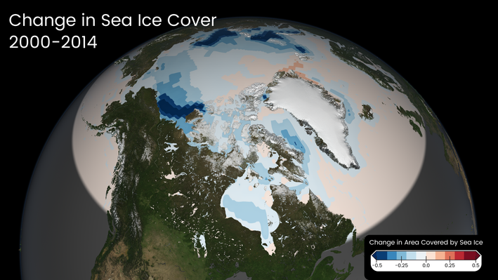 Change in Sea Ice Cover, 2000–2014