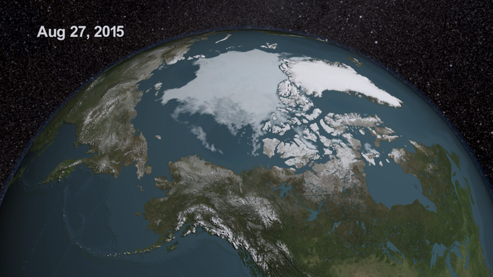 Arctic Sea Ice Reaches 2015 Minimum Extent