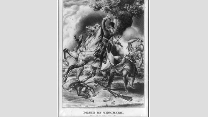 Death of Tecumseh Image