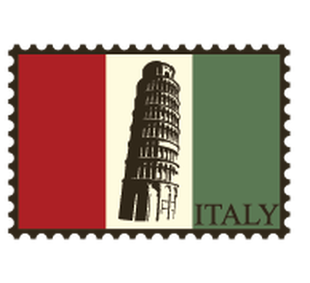 Travel Labels or Badges - Italy | Clipart