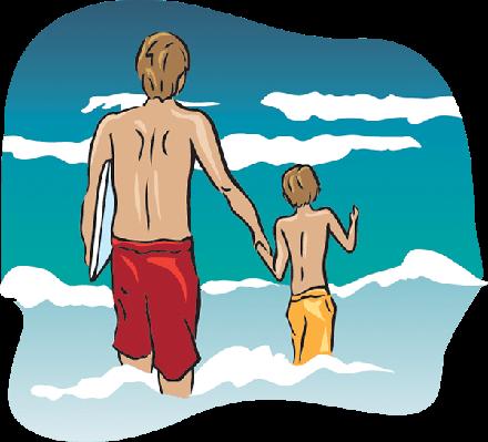 Beach Dad | Clipart